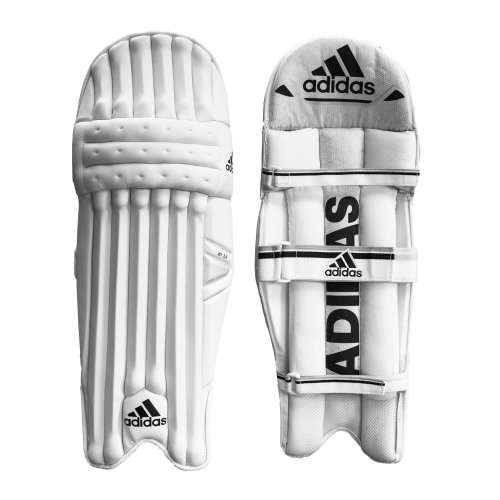 adidas XT 3.0 Kids Cricket Batting Pads Leg Guards Protection White/Black
