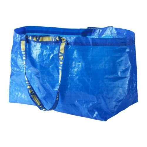 Ikea - 5x Frakta Blue Large Bags - Outdoor Use & Storage (Max Load - 25kg)