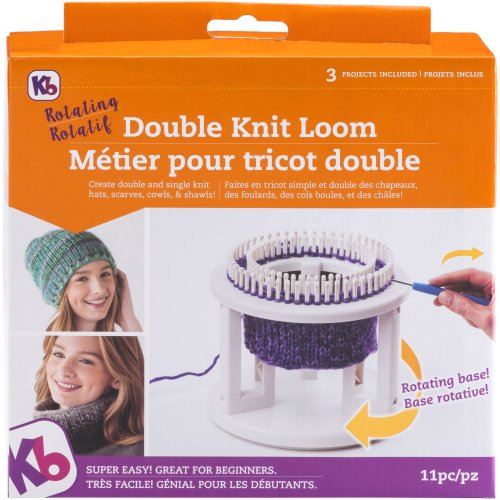 "Knitting Board Rotating Double Knit Loom 9.5""X10.5""X3.5""-"