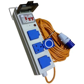 Maypole Mobile Mains Power Unit For Caravan/Motorhome (UK Plug Sockets)