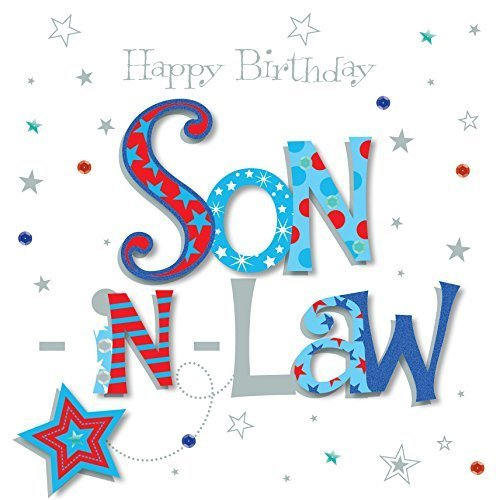 Son In Law Happy Birthday Greeting Card By Talking Pictures Cards On OnBuy