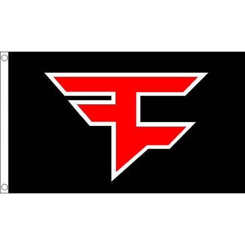 Fazeclan  logo Flag  Size: 5 x 3 FT ( 150cm x 90cm)