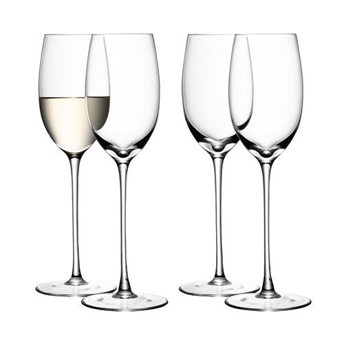 LSA SET 4 WHITE WINE GLASS CLEAR