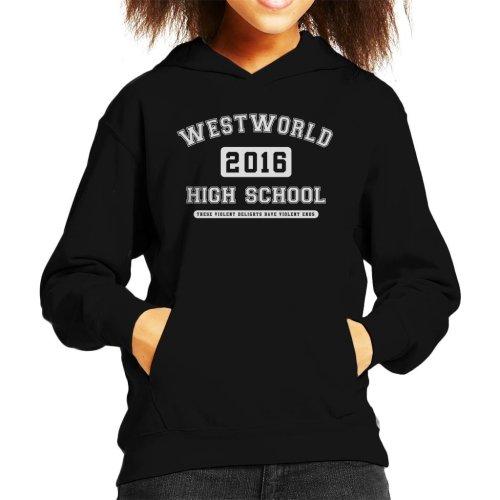 Westworld High School Varsity Text Kid's Hooded Sweatshirt