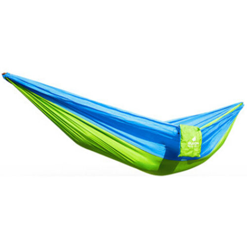 Multifunctional Camping Hammock Hanging Bed Double Size[2.6*1.3m] Green/Blue