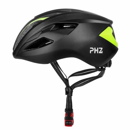 PHZING Adult Cycling Bike Helmet Adjustable Safety Protection for Men Women Bicycle Road Bike Helmet (Black-Green)