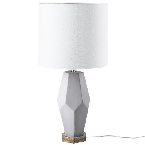 Table Lamp Concrete and White OXLEY