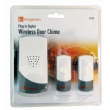 Plug In Wireless Door Bell - Digital Chime New Extra Transmitter Kingavon Plug -  door digital wireless chime new extra transmitter kingavon plugin