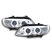 headlight Daylight CCFL Xenon BMW X5 E53 Year 03-06 chrome