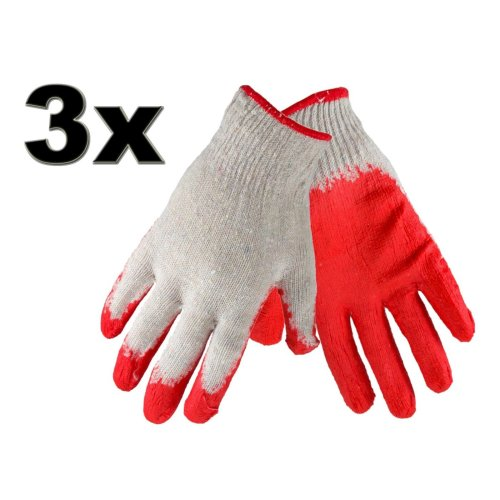 3 Pairs Cotton Protective Garden Gardening Gloves Perfect Grip Standard Size