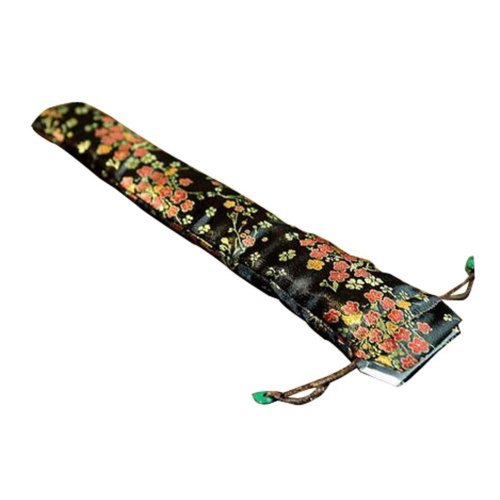 Rattan Accents Man Silk Fan Cover Chinese Style Fan Bag Random Color