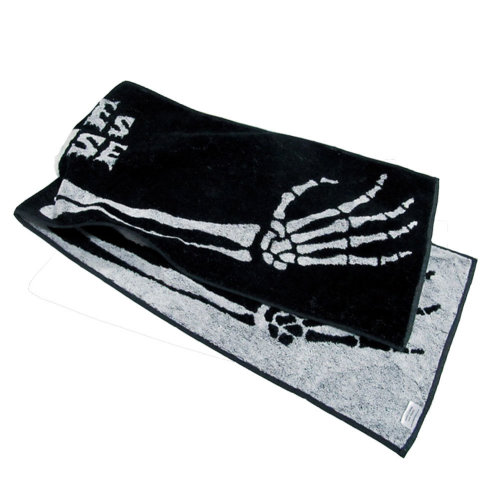 "[BLACK] BONES HOUSE Cotton Active-Dry Gym/Golf/ Workout Towel, 9"" x 39"""