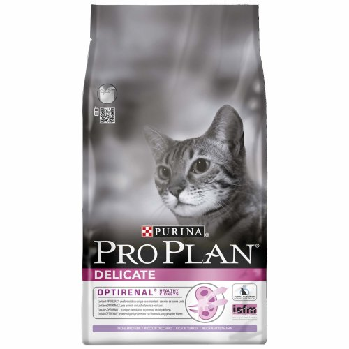 PRO PLAN Delicate Adult Dry Cat Food Turkey 1.5kg - Case of 6 (9kg)