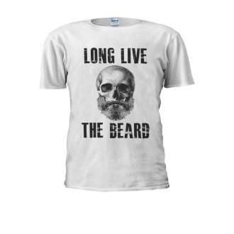 Long Live The Beard Skull Skeleton Novelty Men Women Unisex Top T Shirt