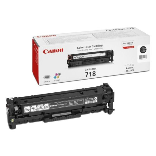 Canon Crg 718 Bk Cartridge 3500pages Black