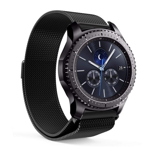 EloBeth Compatible Samsung Gear S3 Classic / Frontier Smartwatch Band 22MM Stainless Steel Strap with Unique Magnet Lock Replacement Buckle Strap...