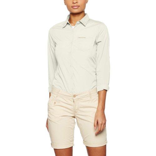 Craghoppers Women's Kiwi Long-Sleeved Shirt, Sea Salt, US8/UK12