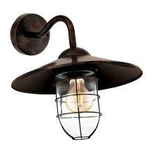 EGLO Outdoor Wall Light Melgoa Dark Brown 60 W 94863