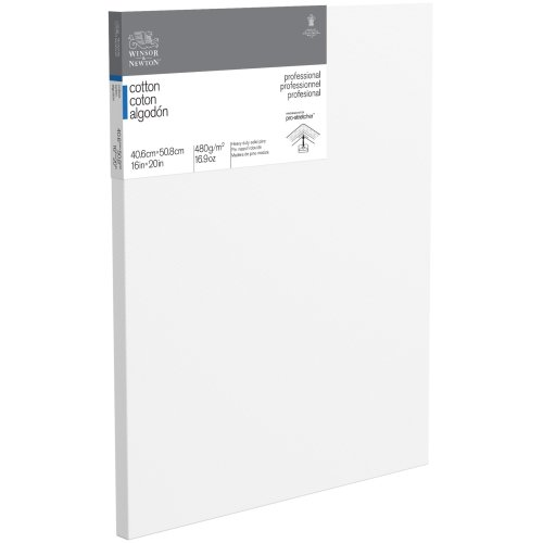 """Winsor Newton Professional Stretched Canvas Cotton-16""""X20"""""""