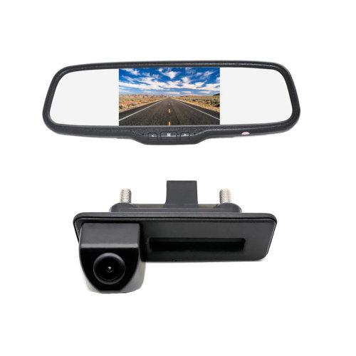 Rear View Backup Camera +Clip-on Mirror Monitor for Audi A1/A4L/Q3/Q5/S5/A8L/A6L