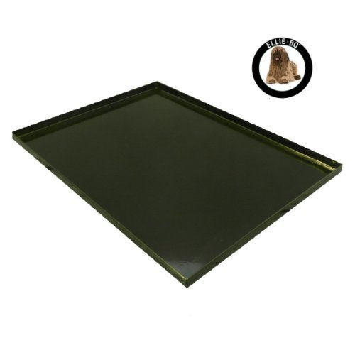 Ellie-Bo Replacement Metal Tray for Dog Cage Crate Medium 30-inch Black