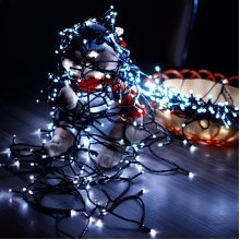7M 50LED Solar Panel String Light Holiday