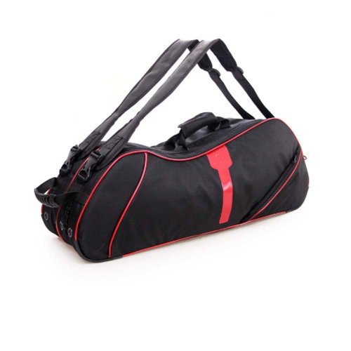 2 Shoulder Straps Waterproof And Dustproof Racket Bag 6 Racquet Bag,Red