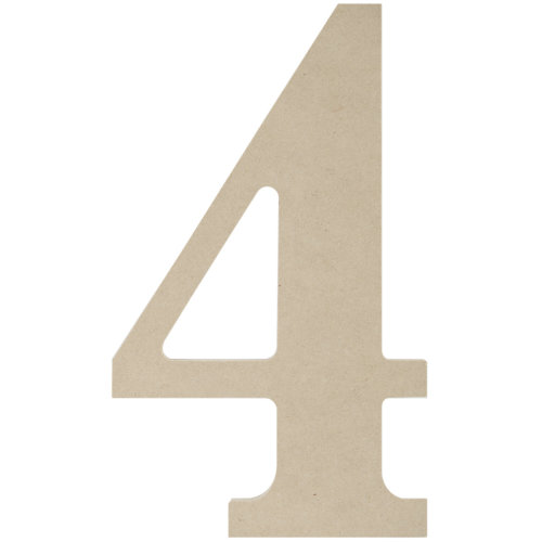"""MDF Classic Font Wood Letters & Numbers 9.5""""-4"""