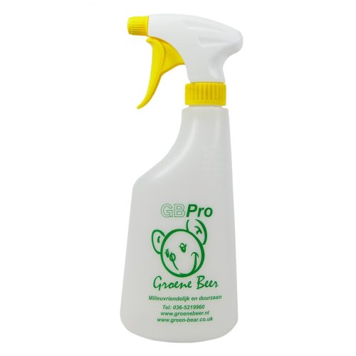 GBPro Spray bottle/container (600ml+) handy dispenser (+ % dilution markings) - YELLOW