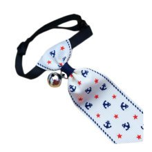 England Style Pet Collar Tie Adjustable Bowknot Cat Dog Collars with Bell-B03