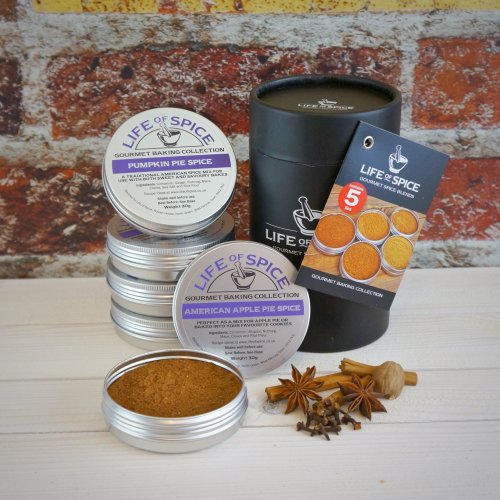 Life of Spice Gourmet Baking Collection - Pumpkin Pie Spice, Speculaas Spice, Gingerbread Spice, American Apple Pie Spice and Stollen Spice