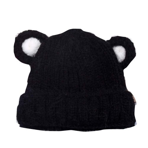 Cute Bearear Children Hand-knitted Resile Winter Hat Baby Soft Warm ... 2935d8c0075