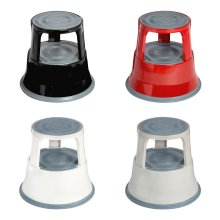 2 Tier Step Stool Robust Steel Non-slip Rubber Top