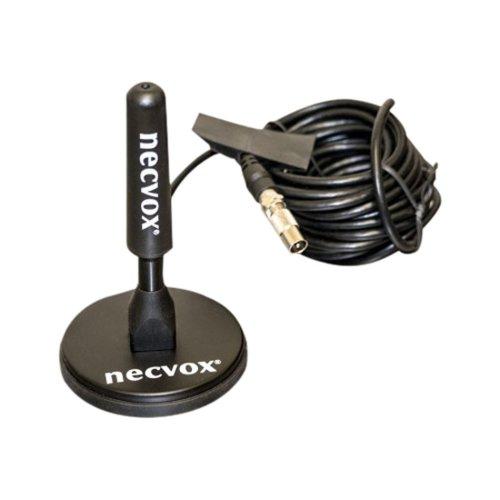 Necvox ANT-536 Digital TV Magnetic Mount Roof Antenna, 96 dB, Black