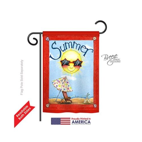 Breeze Decor 56074 Summer Fun in Summer 2-Sided Impression Garden Flag - 13 x 18.5 in.