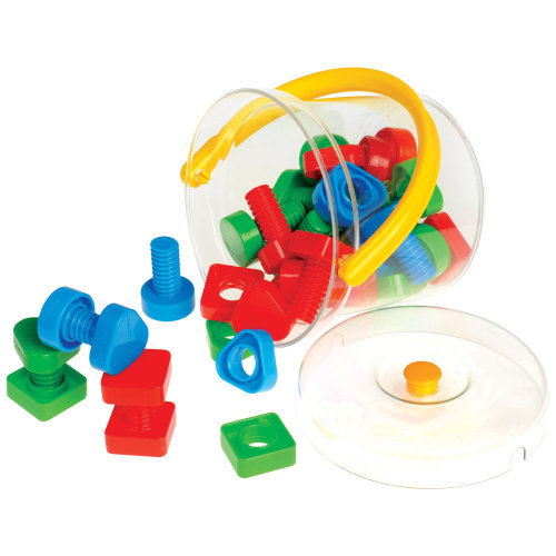 Gowi Toys Nuts and Bolts in Bucket - Construction and Building Sets