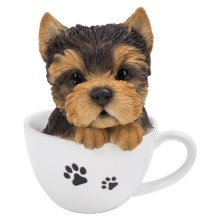 Vivid Arts TP-YKTR-F Yorkshire Terrier Puppy in Tea Cup