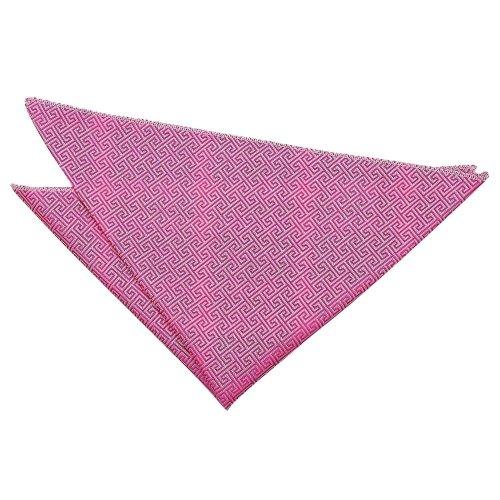 Fuchsia Pink Greek Key  Pocket Square