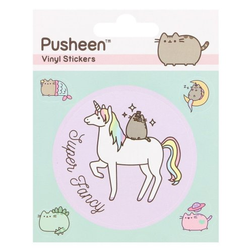 PUSHEEN Official Super Fancy Sheet of Vinyl Stickers (Mythical) - 5 Stickers on Sheet