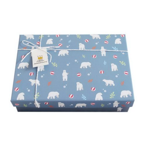 Cute White Polar Bear Gift Box Rectangle Large Birthday Valentine's Day Gift Box