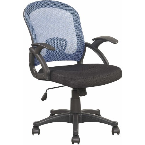 Meriden Furniture Mesh Style Low back Extra padded Black Seat Office Chair