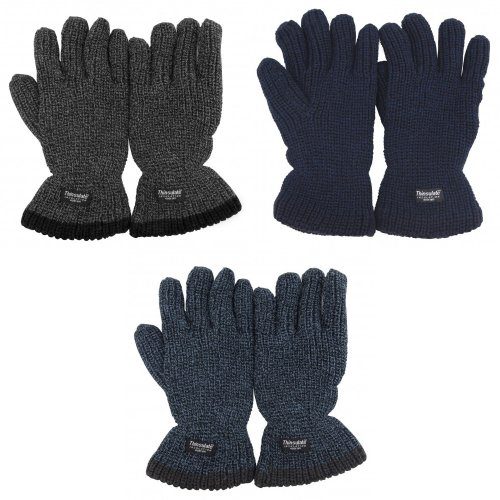 Mens Thinsulate Heavy Knit Fisherman Thermal Gloves (3M 40g)