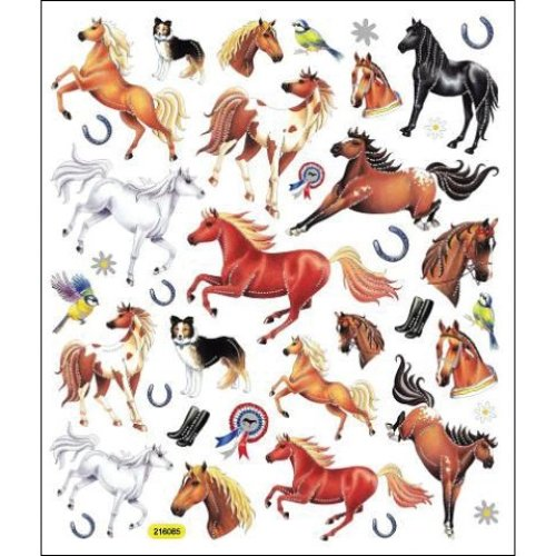 Multicolored Stickers-Thoroughbred Horses