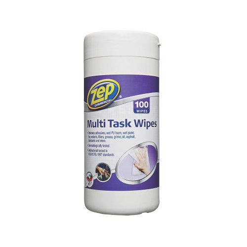 ZEP COMMERCIAL MULTI-TASK WIPES WHITE 100 PACK