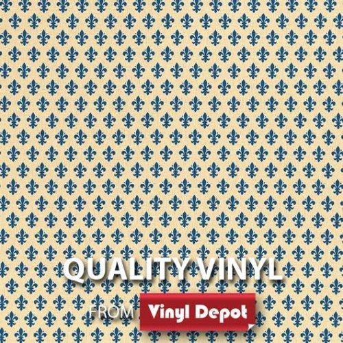 d-c-fix Sticky Self-Adhesive Decor Vinyl Film Fleur de Lys Blue 450mm/m