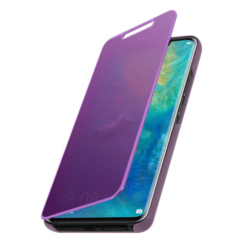 best loved 36e38 86d1b Flip Case Mirror Case for Huawei Mate 20 Pro Standing Cover - Purple