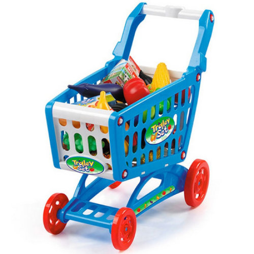 Toyrific Shopping Trolley Set With Play Foods Includes 51 Accessories Pretend Shopping Toy Ages 3 Years+