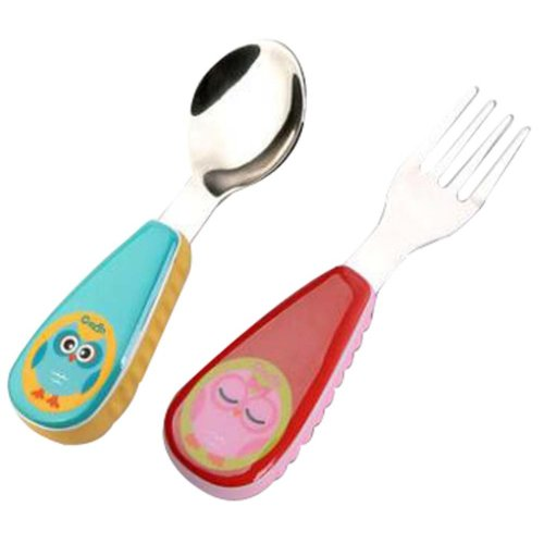Children Stainless Steel Fork Spoon Suit Cutlery Fork Spoon