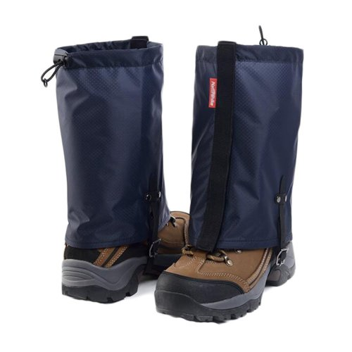Waterproof Hiking/Climbing/Camping/Skiing Shoes Gaiters - M Navy