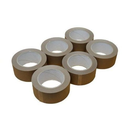 "6 x Rolls Buff Brown Packing Tape 48mm x 40m x 3"" Core"